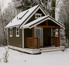 Tiny House in the snow…