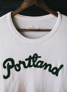 located in Portland, Oregon opened in September inspired by vintage iron-on jerseys tees from the we worked with a nearby printshop to recreate that exact look and feel from the glory days. Best Sneakers, T Shirt And Jeans, Girl Style, My Style, Girly Girl, Style Guides, Girl Fashion, Portland City, Knitting