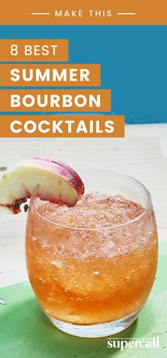 8 Bourbon Cocktails to Drink This Summer Whiskey is incredibly versatile, especially if we're talking about sweet, oaky bourbon. Here, eight bourbon cocktails that are delicious to drink all summer. Bourbon Recipes, Bourbon Drinks, Cocktail Drinks, Cocktail Recipes, Alcoholic Drinks, Beverages, Bourbon Whiskey, Scotch Whiskey, Cocktail Ideas