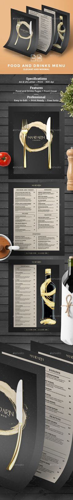 Menu Template Menu templates, Menu and Photoshop - food menu template