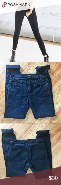 BDG Mid-Rise Cigarette Jeans In Black Super skinny fit, 31W 34L, mid-rose. Microtears on surface of inseam shown as well as minor stretching on the back. BDG Jeans Skinny