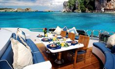 Luxury lifestyle | lunch on yacht