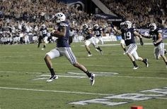 Cody Hoffman returning a kick for a TD.