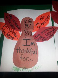 preschool thanksgiving - thinking big, like a bulletin board