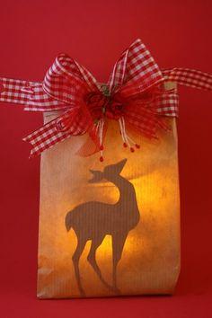 Windlichtje hert Christmas idea  Rudolf  Rendeer