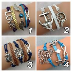 Infinity Wrap Bracelets. Starting at $1 on Tophatter.com!