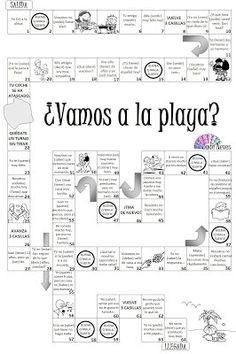 JUEGO: ¿Vamos a la playa? - Conjugation boardgame using present tense verbs. Haven't looked at how to play too closely but looks interesting.