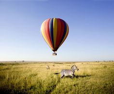 • Ride in a hot air balloon.