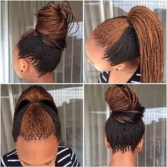 Stunning Micro Braids Updo Once you have your gorgeous braids, try this updo hairstyle. As you can see, micro braids also look beautiful when gathered Micro Braids Hairstyles, African Hairstyles, Senegalese Twist Hairstyles, Hairstyles Videos, Top Hairstyles, Dreadlock Hairstyles, Protective Hairstyles, Protective Styles, Wedding Hairstyles