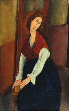 Modigliani - portrait of Jeanne Hebuterne