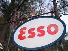 old Esso sign    These photos of the Esso gas station from 1913 were taken at Galivants Ferry, South Carolina.