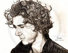 Portrait by Adele  Josh Groban by ForsythTreasures on Etsy