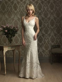 Dreams of brides DOB99 Low V-neck Wedding Gown
