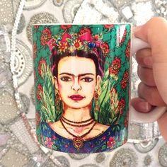 Caneca de Porcelana Frida Ref.03 - Minha Loja