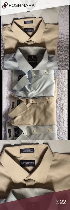 3 men's dress shirt Lot of 3 Stafford Mens Tailored culture Dress Shirts, sz 17-1/2, 34-35 sleeve, no pet non smoking loving home. Great condition, enhance your wardrobe for less! Stafford Shirts Dress Shirts