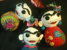Amigurumis De Frida Kahlo : Más trabajos realizados por nuestras compañeras de facebook muñeca