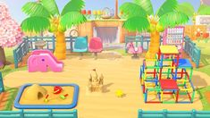 animal crossing new horizons island ideas Super cute ACNH playground design!