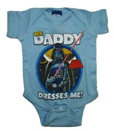 I found 'Star Wars Darth Vader My Daddy Dresses Me Baby Creeper Romper Snapsuit' on Wish, check it out!