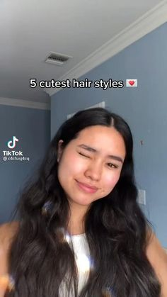 Baddie Hairstyles, Easy Teen Hairstyles, Pretty Hairstyles For School, Swag Hairstyles, Cute Hairstyles Long, Athletic Hairstyles, Kawaii Hairstyles, Hair Tips Video, Hair Videos