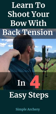 Do you shoot with back tension? If not, it's affecting your shooting accuracy. Learn why shooting with back tension is so important and how you can easily work on it.