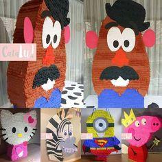 Piñatas gigantes hechas 100% a mano 🙌 #hechoenchile #piñatas #piñata #amano #hechoamano #catalu #minions #pepapig #cebra #kitty #señorcaradepapa