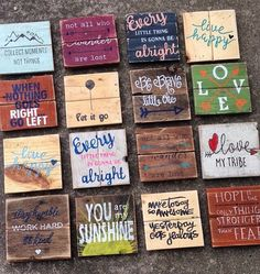These little minis are perfect for everywhere! Anywhere from filling in spaces on your picture wall to hanging in the office! They vary in size between 6 and 7 inches. If you need a specific size for a specific space, just message us! Listing is for 1 sign. These are all made to order, so you can choose your colors! Hardware is not included. Note: Pallet Wood Is Unique. We Handpick & Strip Many Different Pieces Of Wood That We Feel Would Be Best For Each Project.