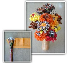 Fall Flowers craft - why not make your Thanksgiving table centerpiece?