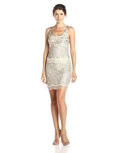 Adrianna Papell Women's Sleeveless Beaded Cocktail Dress with Scoop Neck and Scallop Beading, Cream, 2 Adrianna Papell http://www.amazon.com/dp/B00VYJPHVI/ref=cm_sw_r_pi_dp_EUu.vb0M9R736