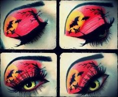 Love this Halloween makeup. Creepy but awesome! :)