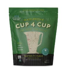 Gluten Free Flours - Wholesome Flour Blend by Cup4Cup is Gluten-Free, Dairy-Free and Certified Non-GMO.