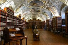 The  library in Theological Hall at the Strahov Monastery in Prague