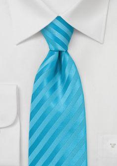 Striped Tie in Aqua Blues  #bowsnties @Harriet Galloway-N-Ties .com