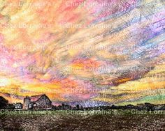 Rustic Splendor:  A Mixed Media Fine Art Reproduction Print