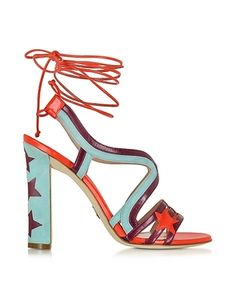 fd51be7ba125 Paula Cademartori Shoes Starry Red  amp  Turquoise Leather and Suede...  ( 385