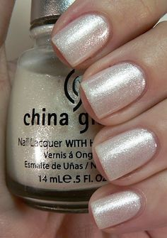 China Glaze Frosty - ugh there's no better #polish than a super sparkly neutral
