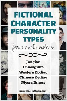 Fictional Character Personality Types for novel writers, including Jungian, Myers Briggs, Enneagram, Western Zodiac and Chinese Zodiac. A resource for creating fictional characters and adding depth and internal conflict. Book Writing Tips, Writing Resources, Blog Writing, Writing Help, Creative Writing, Writing Prompts, Writing Ideas, Writing Activities, Character Personality