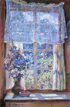 Животков Владимир Владимирович (Россия, 1940-2005) «Окно» 1970-е