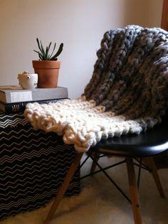 Loopy Mango DIY Knit Kit - photo by Catherine Dash Lonny Magazine - throw, yarn and DIY kits  available on loopymango.com