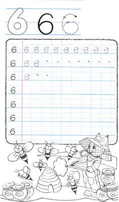 Apprends à écrire le chiffre 6