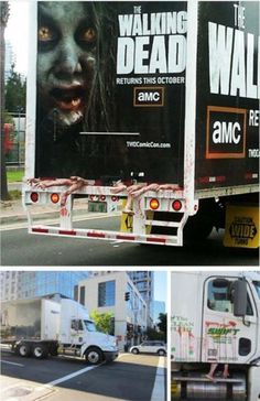 Creative The walking dead advertise on a truck