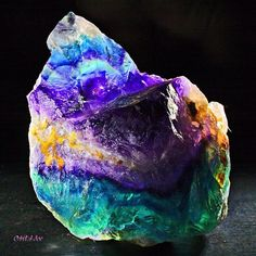 Rainbow Fluorite | #Geology #GeologyPage #Mineral    Photo Copyright © Orbital Joe/flickr    Geology Page  www.geologypage.com