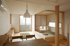リビング 収納 新築 - Google 検索 Japanese Home Design, Japanese Home Decor, Japanese Interior, Japanese House, Tiny Spaces, Small Rooms, Tatami Room, A Frame House Plans, Minimalist Bed