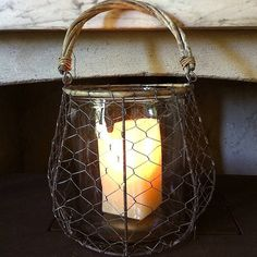 Large Wire And Glass Lantern from notonthehighstreet.com