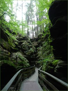 Witches Gulch trail, Wisconsin Dells.