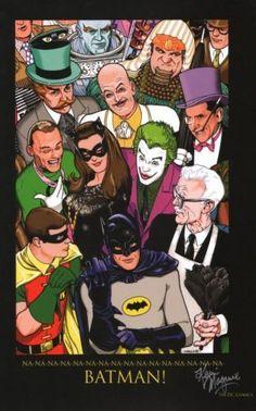 Resultado de imagen de adam west burt ward batman artwork