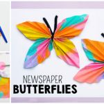 Newspaper Butterfly Craft