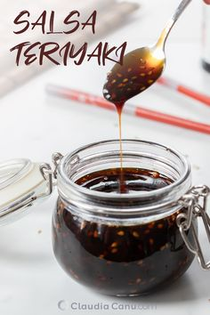 An easy Teriyaki Sauce recipe to use with your favorite meat 🥩 fish 🐟 salad 🥗 veggies🥦 & plant-based protein. It's thick and filled with umami flavors. Receta Salsa Teriyaki, Easy Teriyaki Sauce Recipe, Sauce Teriyaki, Gluten Free Teriyaki Sauce, Fish Salad, Homemade Donuts, Batch Cooking, Sauce Recipes, Chutney