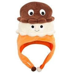 Two times the fun with the Double Scoop twins!! This plush hat is sure to put twice as many smiles on your friends! One size fits most.