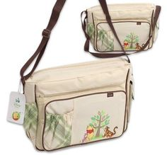 "Disney Winnie the Pooh Diaper Bag is a great way to carry all baby care essentials on the go. - Height 11,5""H - Side pockets - 2 exterior pockets - Spacious main compartment - adjustable shoulder stra"