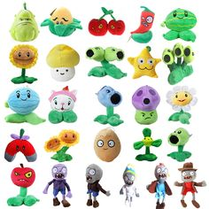 20 Styles Plants vs Zombies Plush Toys